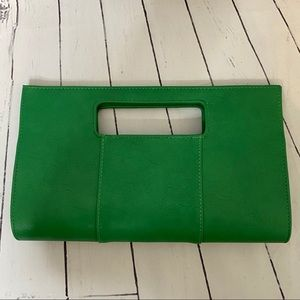 NWOT CHARMING CHARLIE green long clutch purse